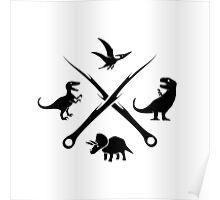 Hipster Dinosaurs Logo (black version) Poster