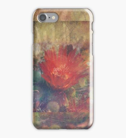 Cactus Flower Textured iPhone Case/Skin