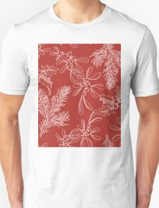 Fir, Mistletoe and Holly for Christmas Unisex T-Shirt