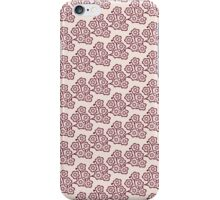 vintage pink blossom pattern iPhone Case/Skin