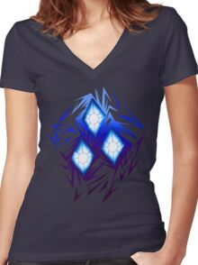 Shards of Rarity's Cutiemark Women's Fitted V-Neck T-Shirt