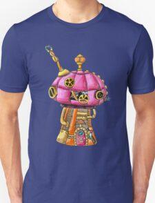 Red Steampunk Mushroom Unisex T-Shirt