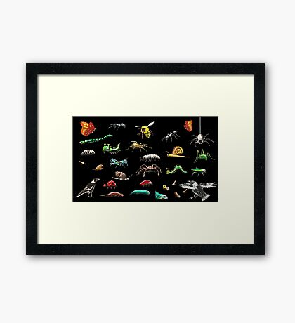 Creatures wallpaper Framed Print