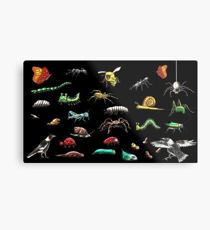 Creatures wallpaper Metal Print