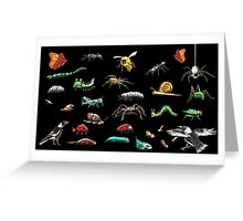 Creatures wallpaper Greeting Card