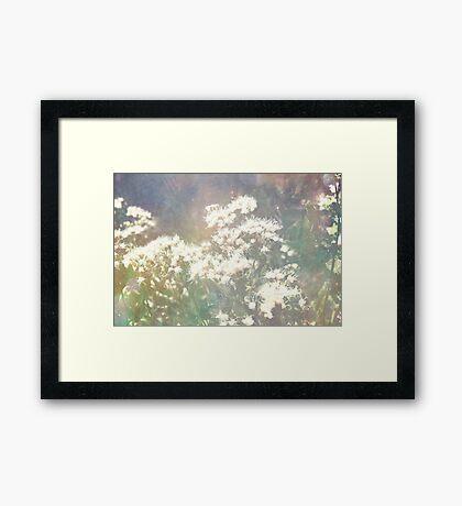 flower textured Framed Print