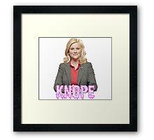 """Leslie """"Knope"""" Framed Print"""