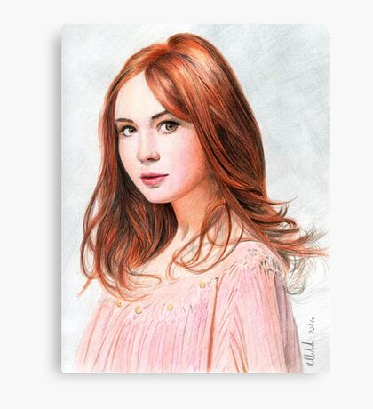 Amy Pond - Karen Gillan from Doctor Who saga Canvas Print