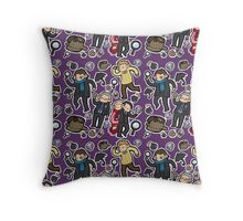 Sherlock Tote (purple) Throw Pillow