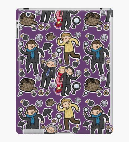 Sherlock Tote (purple) iPad Case/Skin