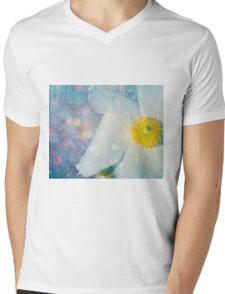 Flower bluedifil Mens V-Neck T-Shirt