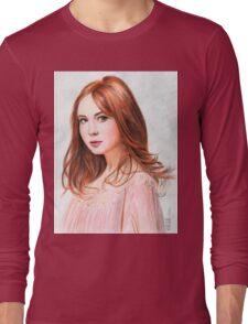 Amy Pond - Karen Gillan from Doctor Who saga Long Sleeve T-Shirt