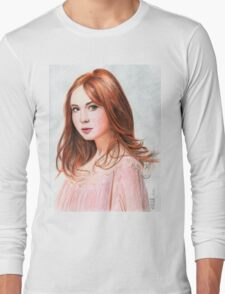 Amy Pond - Karen Gillan from Doctor Who saga Long Sleeve T-Shirt