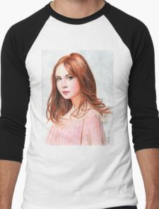 Amy Pond - Karen Gillan from Doctor Who saga Men's Baseball ¾ T-Shirt