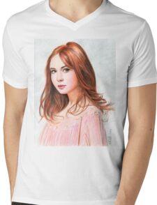 Amy Pond - Karen Gillan from Doctor Who saga Mens V-Neck T-Shirt