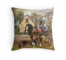 Sunday Driver Throw Pillow