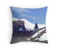 Treeline Grizzly Throw Pillow