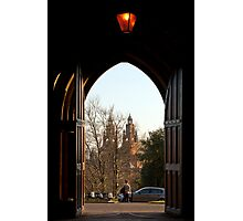 Kelvingrove Art Gallery & Museum through an archway Photographic Print