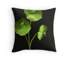 Miners' Lettuce Throw Pillow