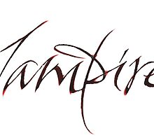 Elegant Vampire Hand Lettering - Scratched Blood - Halloween by 26-Characters