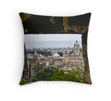 Cannons eye view Throw Pillow