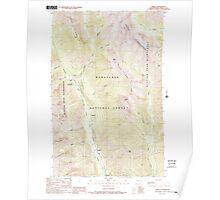USGS Topo Map Washington State WA Trinity 244341 1988 24000 Poster