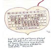 Witness Art - Out of the Heart the Keyboard Speaks Photographic Print