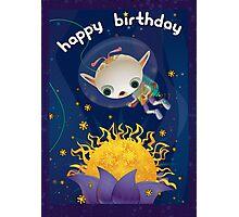 Tachyon Flower - Happy Birthday Photographic Print