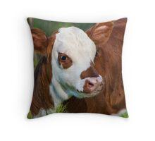 Baby Moo Throw Pillow