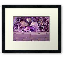 The Purple Easter Basket Framed Print