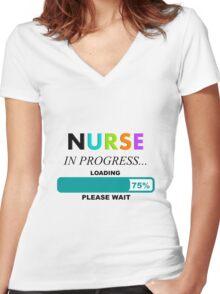 Nursing Student Humor Women's Fitted V-Neck T-Shirt