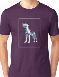Dog Mauve Green E Unisex T-Shirt