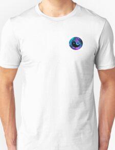 Galaxy styled ying yang sign Unisex T-Shirt