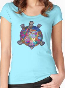 Turtle Tattoo Women's Fitted Scoop T-Shirt