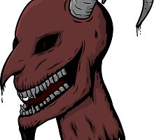 Severed Demon Head by unluckydevil