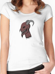 Severed Demon Head Women's Fitted Scoop T-Shirt