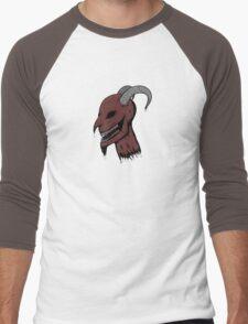 Severed Demon Head Men's Baseball ¾ T-Shirt