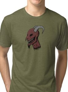 Severed Demon Head Tri-blend T-Shirt