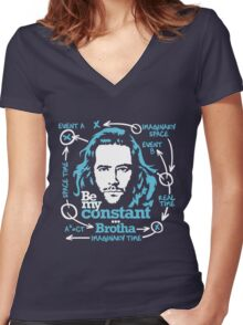 Be my constant brotha Women's Fitted V-Neck T-Shirt