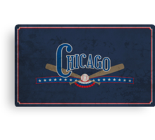 Chicago Baseball Canvas Print