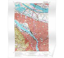 USGS Topo Map Oregon OR Portland 281136 1961 24000 Poster