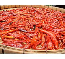 Sun-dried Thai Red Chillies Photographic Print