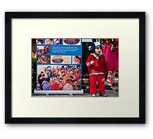 Poster Boy Framed Print