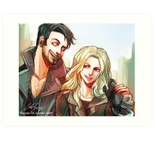 Captain Swan merch 2 (ouat) Art Print