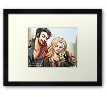 Captain Swan merch 2 (ouat) Framed Print