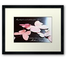 Kisses from Heaven on Mother's Day  Framed Print