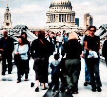 Crossing Over - St Paul's Cathedral in London by Mark Tisdale