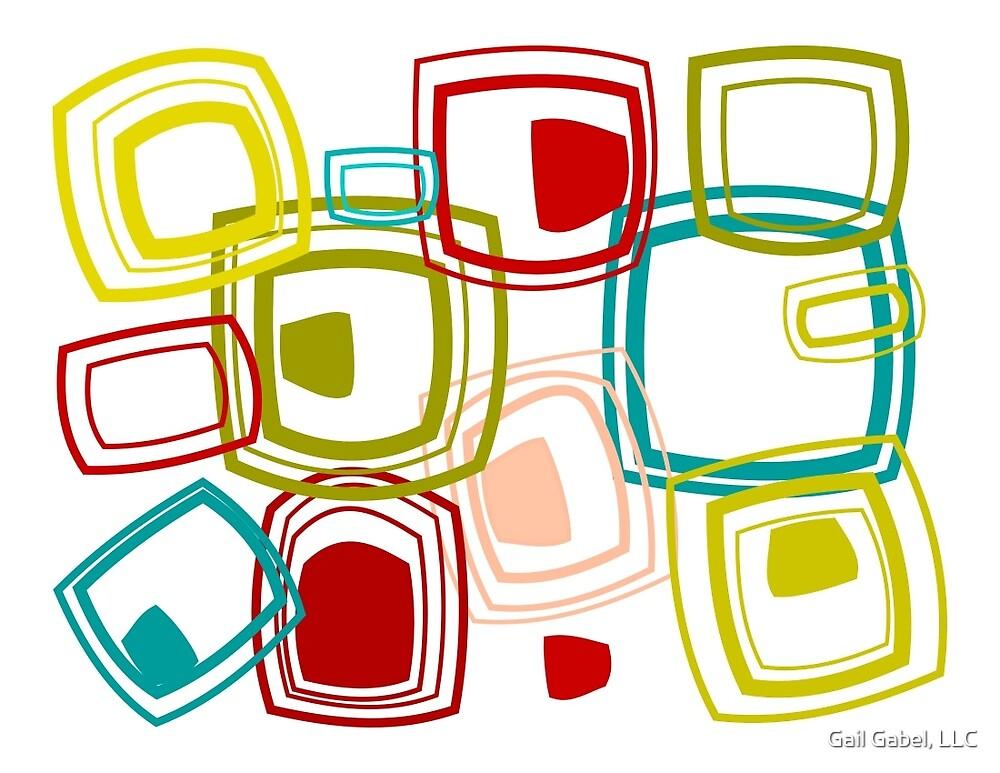 Retro Abstract Squares by Gail Gabel, LLC
