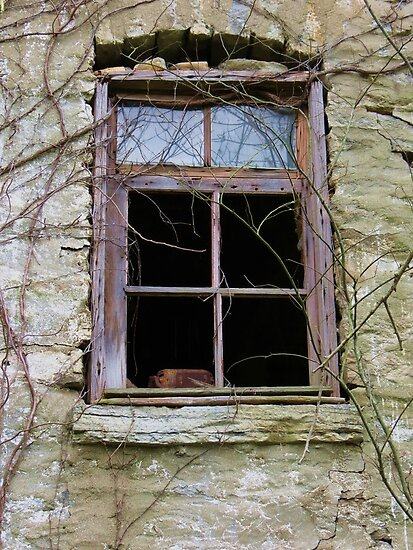Barn Basement Window by Ron Russell