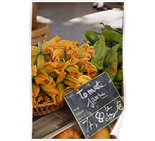 Zucchini flowers, Provence, France Poster